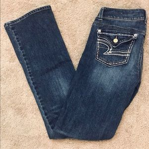 American Eagle Kick Boot Blue Jeans Women's Size 2